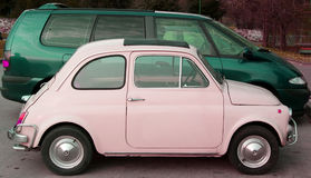 Pink and Green Cars royalty free stock photo