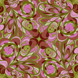 Pink-green floral seamless Royalty Free Stock Images