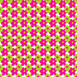 Pink and green flowers on a light background seamless pattern vector illustration Stock Image