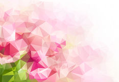 Pink green Geometric abstract colorful low poly background. With space for your text Stock Image
