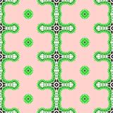 Pink and green geometrical abstract seamless pattern Stock Photos