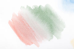 Pink and green gradient with the watercolor paint strokes Royalty Free Stock Photos