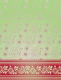 Pink and green Indian saree background Stock Photos