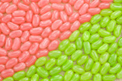 Pink and Green Jellybean Background Stock Photo