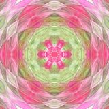 Pink and green kaleidoscope vector illustration