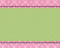 Pink and green paisley print Stock Photo