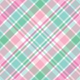 Pink and Green Plaid. Illustration of pastel pink and green plaid Royalty Free Stock Photography