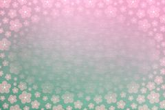 Pink and green sakura spring background with soft stone texture behind - flowers, cherry blossom Stock Images