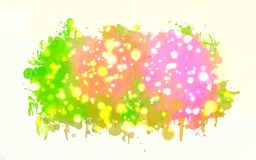 Pink and green with sparkle brush strokes background. Vector version Stock Photo
