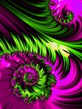 Pink and green spiral abstract fractal pattern Royalty Free Stock Photography