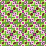 Pink and Green Squares Seamless Stock Image