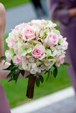 Pink and green Wedding Bouquet Stock Images