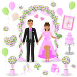 Pink-green wedding design Royalty Free Stock Photo