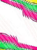 Pink and green zigzag line, abstract background Royalty Free Stock Photos