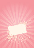 Pink Greeting Card Royalty Free Stock Images