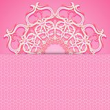Pink greeting card Stock Photography