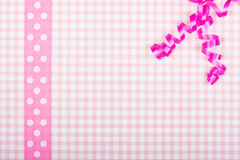 Pink greeting card with bavarian design Royalty Free Stock Photos