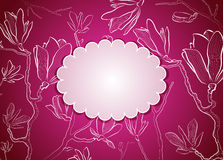 Greeting card with magnolia Stock Photo