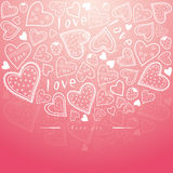 Pink greeting card for love Royalty Free Stock Photo