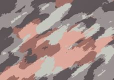 Pink grey brown and black painting abstract Stock Image