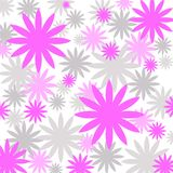 Pink and grey florals. Pink and grey floral pattern Stock Photography