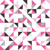 A pink and grey geometric background Stock Images