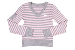 Pink-grey sweater on a white. Stock Image