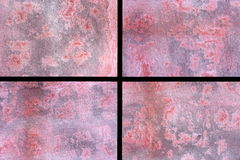 Pink and Grey Watercolour Collage Royalty Free Stock Photos