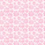 Pink Grid Flower Pattern. Pink Grid Flower Seamless Repeating Pattern royalty free illustration