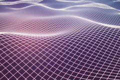 Pink grid waves. Abstract pink grid waves background/texture/backdrop/wallpaper. 3D Rendering Stock Photo