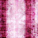 Pink grunge background with flowers Stock Image
