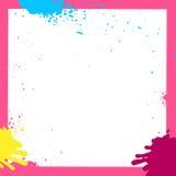 Pink Grunge Ink Squares Frame Royalty Free Stock Image