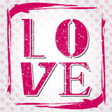 Pink grunge love Royalty Free Stock Image