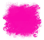 Pink Grunge Paint Smear Background. Grunge pink paint  spatter background isolated on white Stock Photo