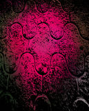 Pink Grunge Perspective Background. Pink and black grunge effect with pattern in perspective for use in website wallpaper design, presentation, desktop vector illustration