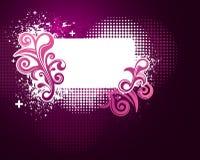 Pink grunge splatter frame background Stock Photo