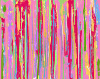 Pink Grunge Stripe Background. Hand painted and enhanced with computer using a palette knife and various acrylic paints Stock Photos