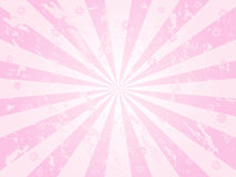 Pink grunge sunburst Stock Photos