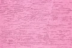 Pink grunge texture cement wall. copy space. background stock photography