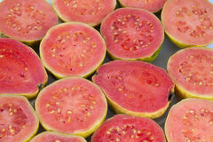 Pink guava background Royalty Free Stock Photos