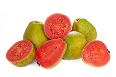 Pink guava isolated on white Stock Image