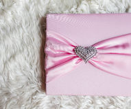 Pink guest book in wedding ceremony. Pink guest signature book in wedding ceremony Stock Photography