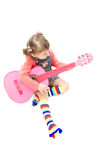 Pink guitar Royalty Free Stock Images