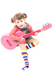 Pink guitar Royalty Free Stock Photos