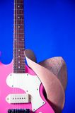 Pink Guitar Western Hat Royalty Free Stock Photos