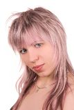 Pink hair Royalty Free Stock Photography