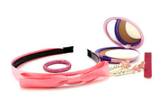 Pink hair accessories Stock Photos
