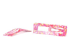 Pink hair clips Royalty Free Stock Photography
