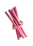 Pink Hair Curlers Stock Images