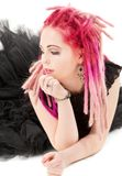 Pink hair girl Stock Images